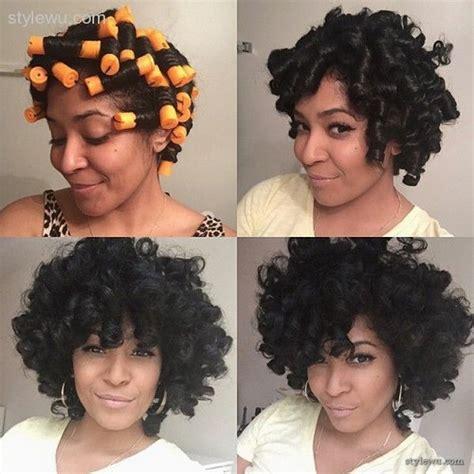 perm rod hair styles on natural hair perm rods on relaxed hair 1 hair beauty pinterest