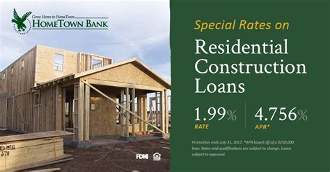 can i get a construction loan on an existing house residential construction loans archives hometown bank