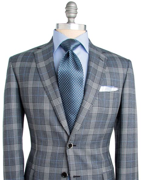 light blue windowpane sport coat brioni grey plaid with light blue windowpane sportcoat