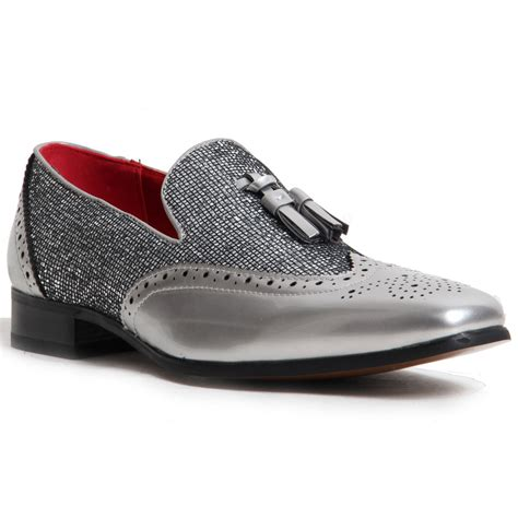sparkling shoes for loafer leather lined slip on sparkling brogued mens shoes