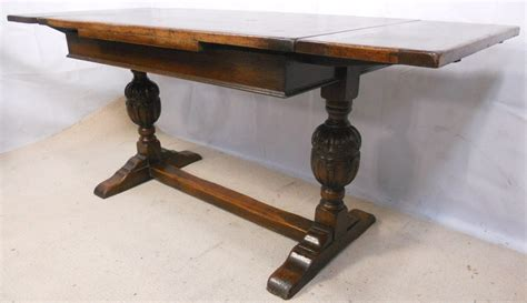 Jacobean Style Carved Oak Drawerleaf Refectory Dining Dining Table Leg Styles