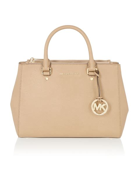 Michael Kors Sutton Canvas Tote by Michael Kors Sutton Taupe Tote Bag In Brown Lyst