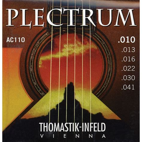 Thomastik Ac110 Plectrum Bronze Extra Light Acoustic Light Guitar Strings