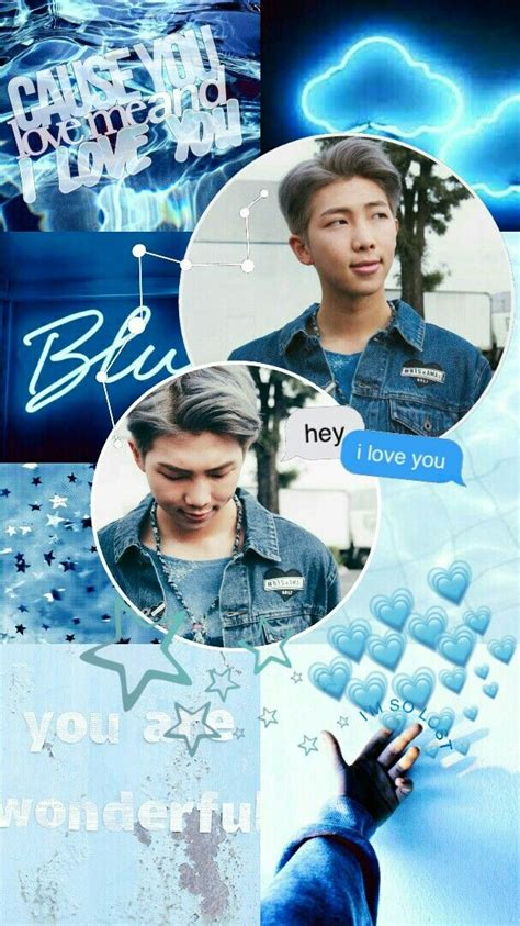 kim namjoon bts rm edit aesthetic wallpaper lockscreen