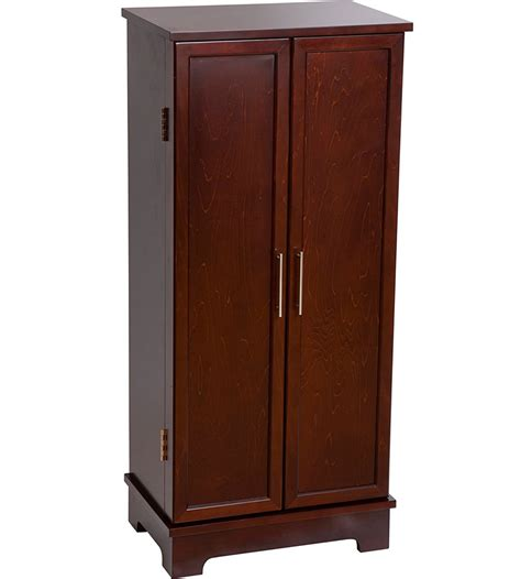 earring armoire wooden jewelry armoire in jewelry armoires