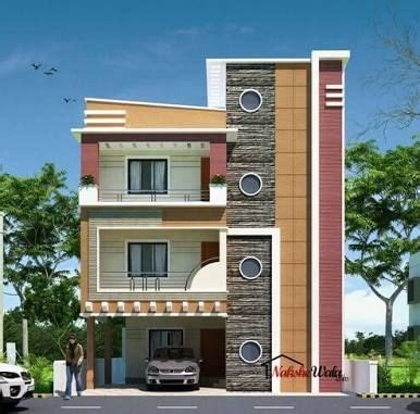 normal home design front elevation designs for duplex houses in india