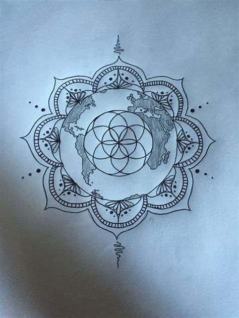 seed of life tattoo sketch for my seed of earth and