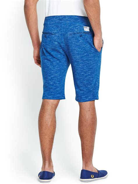 bench mens shorts bench mens marl shorts in blue for men true blue lyst