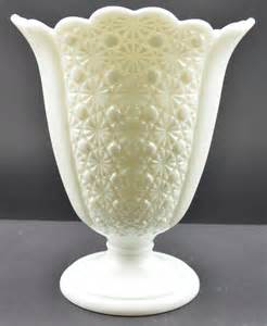 Vase Patterns Vintage Fenton Art Glass Daisy Button Milk Glass Pattern
