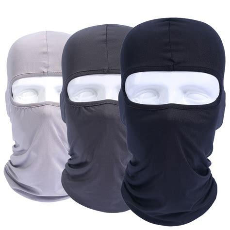 Balaclava Masker Skull Cap Spandex Elastis Tengkorak 3 lycra elastic balaclava windproof mask cover hats cap tactical airsoft helmet