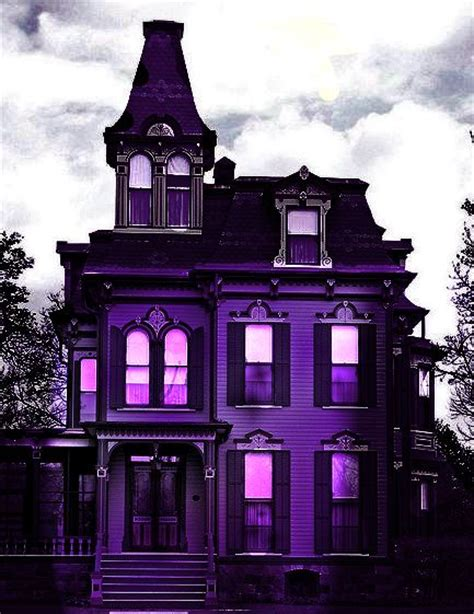 purple house home ideas