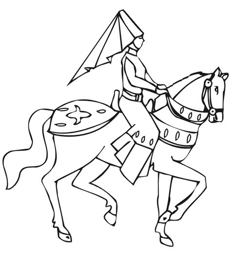 princess coloring page princess on horse with shield