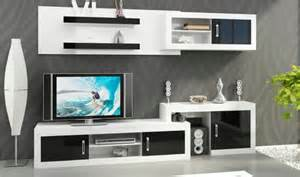 ensemble meuble mural avec meuble tv commode et etageres