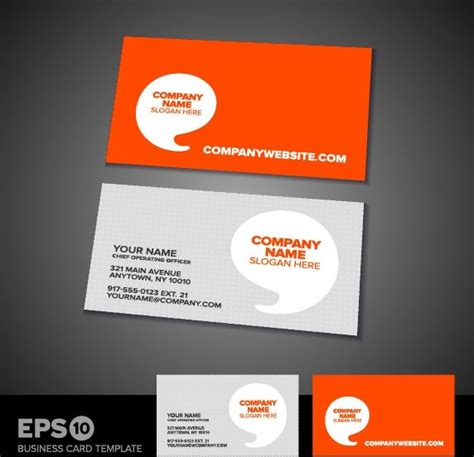 business card template eps commercial business card template 05 vector free vector in