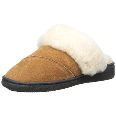 womens outdoor slippers pajar 4883 womens astrid suede faux fur indoor outdoor scuff slippers shoes bhfo ebay