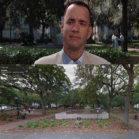 forrest gump bench savannah 10 famous film locations revisited in google street view