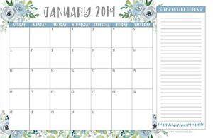 floral   large monthly desk  wall calendar planner big giant ebay