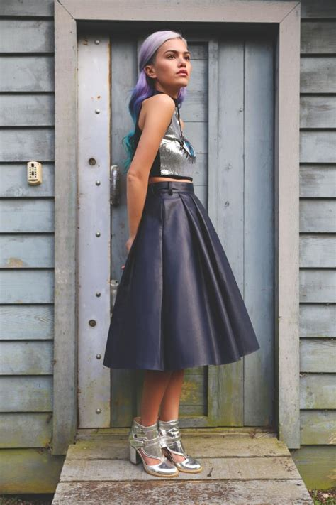 Home Decor Cheap Online by How To Wear The Leather Midi Skirt Broke And Beautiful