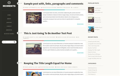 layout of a blog post 55 best free responsive blogger templates 2018