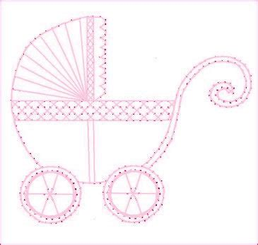 pattern paper greeting card baby new arrival carriage buggy paper embroidery pattern