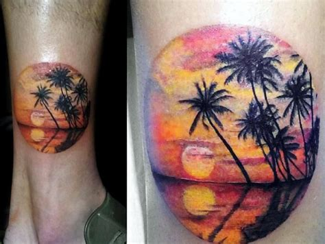 sunset tattoos for men sunset tattoos www pixshark images galleries