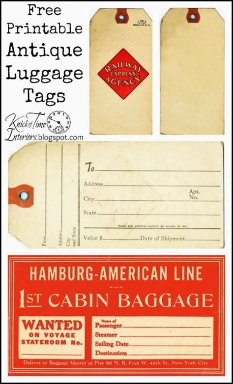 printable hang tags printable hang tag gift tags knick of time