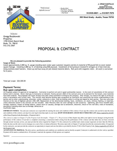 roofing contract template roofing contract by aaa46674 sle roofing