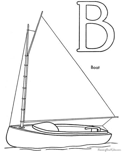 boat drawing prints boat coloring page 004