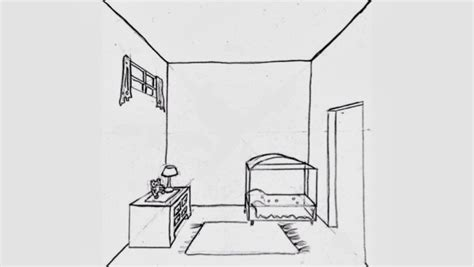 room drawing the helpful draw a surrealistic room in one point perspective