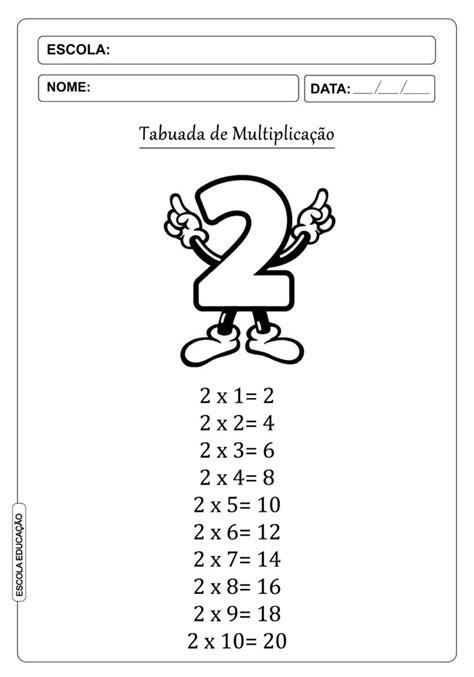 tabuada-de-multiplicacao-para-imprimir-2 - Escola Educação