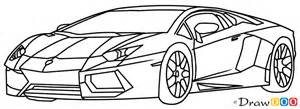 Lamborghini How To Draw How To Draw Lamborghini Diablo Supercars How To Draw