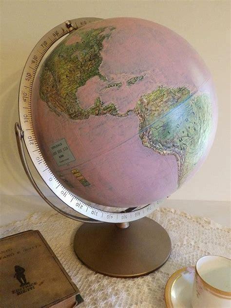 world globe home decor vintage upcycled pink world globe home office anywhere