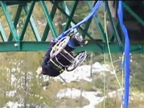 Bungee Jumping Chair - of a paraplegic wheelchair bungee jumping goes