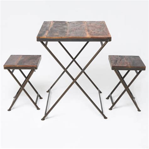 Folding Bistro Table Reclaimed Wood Folding Bistro Table By Horsfall Wright Notonthehighstreet