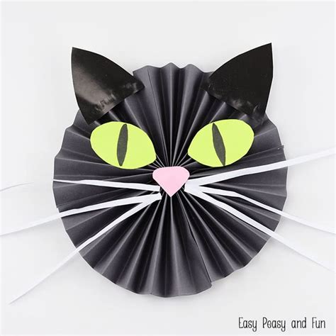 Cat Paper Craft - black cat paper craft easy peasy and