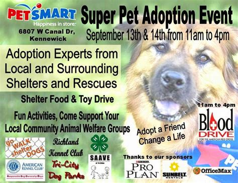 puppy adoption events near me petsmart kennewick national adoption event in kennewick washington
