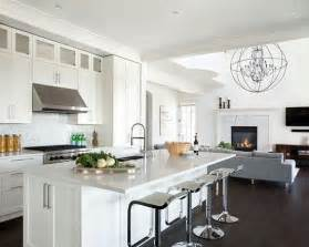 open kitchen living room design w dark hardwood floors open plan kitchen living amp dining space deck house