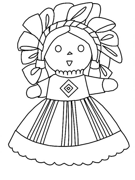 mexican girl coloring page free girl in a parachute coloring pages