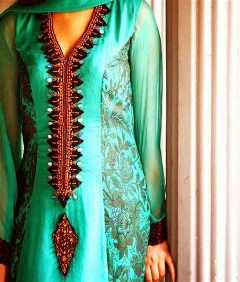 latest indian pakistani  neck  gala designs