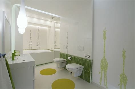 children bathroom futuristic penthouse with twin toilets