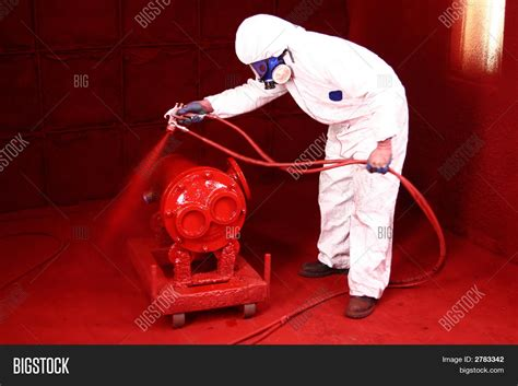 industrial spray painter employment industrial paint spraying stock photo stock images