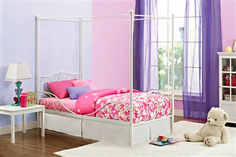 sears home decor dorel canopy twin metal bed multiple colors