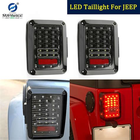 a pair of integrated led light for jeep wrangler jk