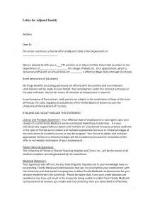 cover letter for adjunct faculty sle cover letter for adjunct instructor position