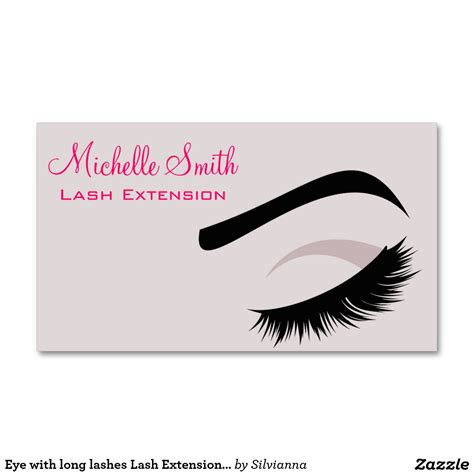 Lash Extension Business Cards