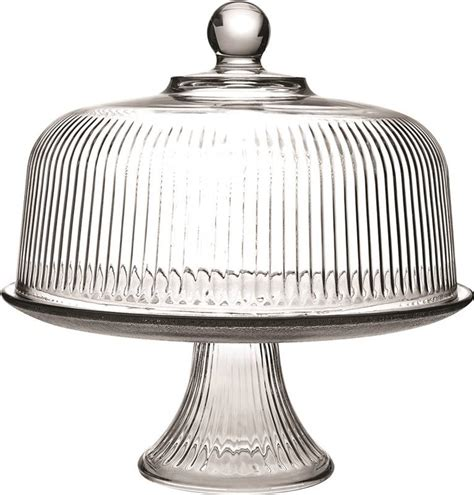 Oneida Serving Set Giveaway - oneida 86031l13 ribbed dome cake set 10 1 2 in dia glass clear
