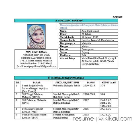 format cv terbaik download contoh resume terbaik format doc wikikau