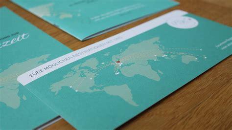 Hochzeitseinladung Reisen by Alittlestyle De Nachhaltiges Webdesign Grafikdesign