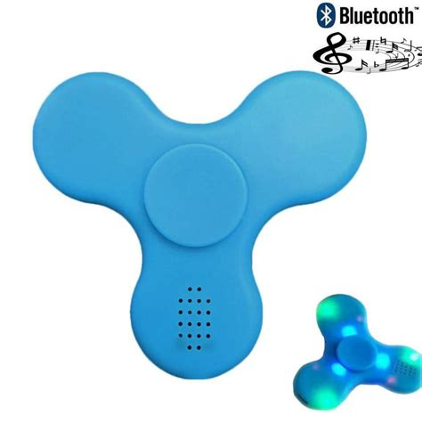 Fidget Spinner Led Bluetooth Speaker Hijau bluetooth speaker led fidget spinner finger edc focus