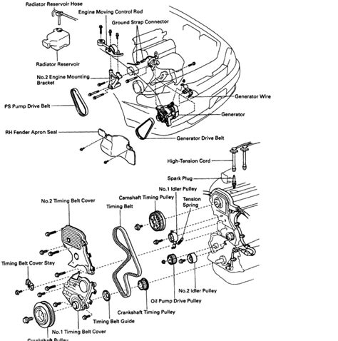 1996 toyota camry engine diagram diagram of timing belt marks and installation
